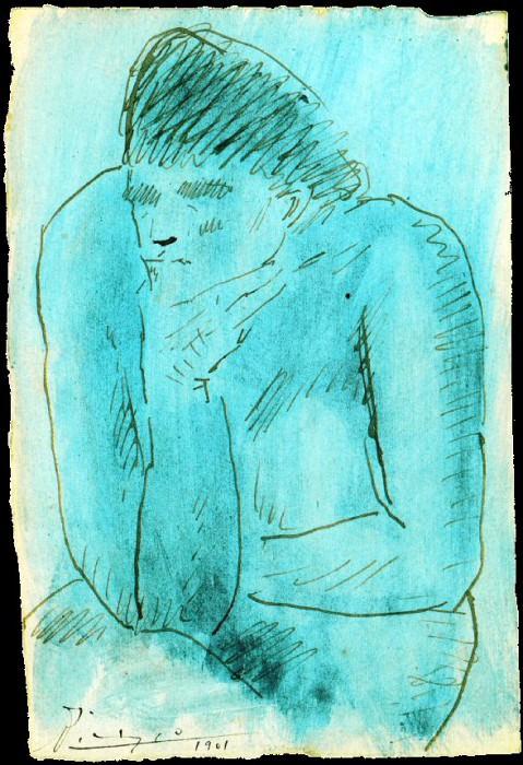 1901 Рtude pour La buveuse dabsinthe. Pablo Picasso (1881-1973) Period of creation: 1889-1907