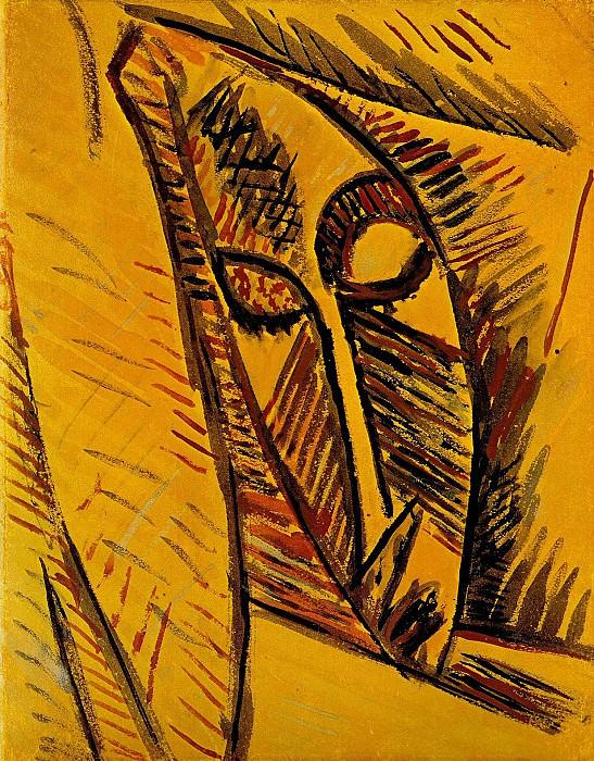 1907 Nu Е la draperie. Pablo Picasso (1881-1973) Period of creation: 1889-1907 (Рtude)