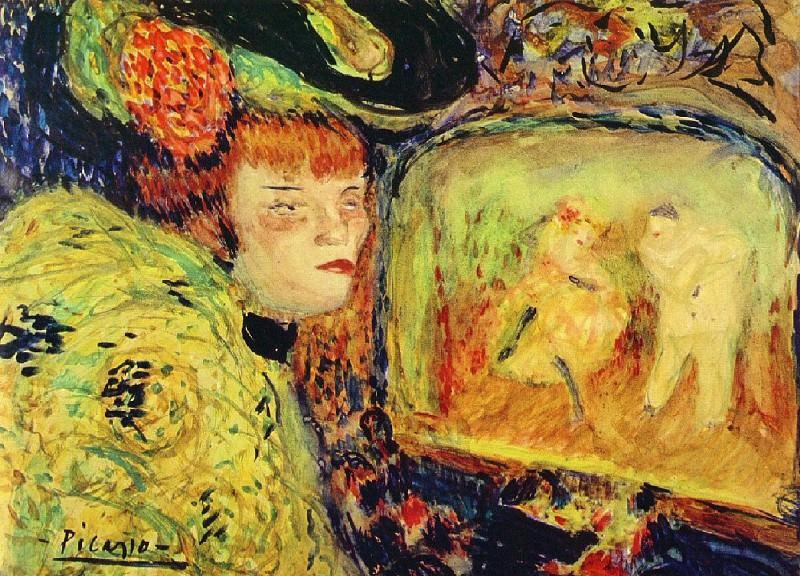 1901 Le Divan Japonais. Пабло Пикассо (1881-1973) Период: 1889-1907