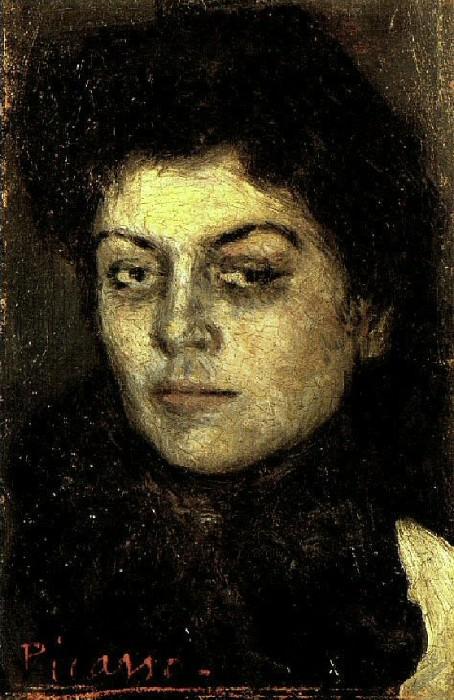 1901 Portrait de Lola Ruiz Picasso. Пабло Пикассо (1881-1973) Период: 1889-1907