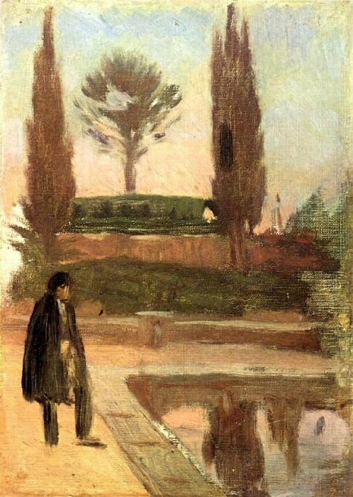 1897 Homme dans un parc. Pablo Picasso (1881-1973) Period of creation: 1889-1907