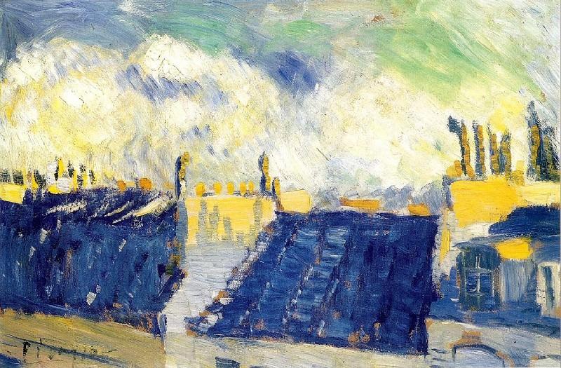 1901 Les toits bleus. Pablo Picasso (1881-1973) Period of creation: 1889-1907