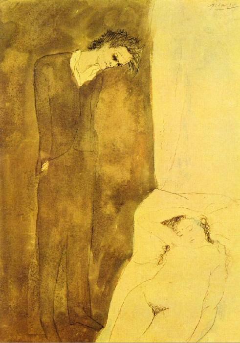 1904 Nu dormant. Пабло Пикассо (1881-1973) Период: 1889-1907