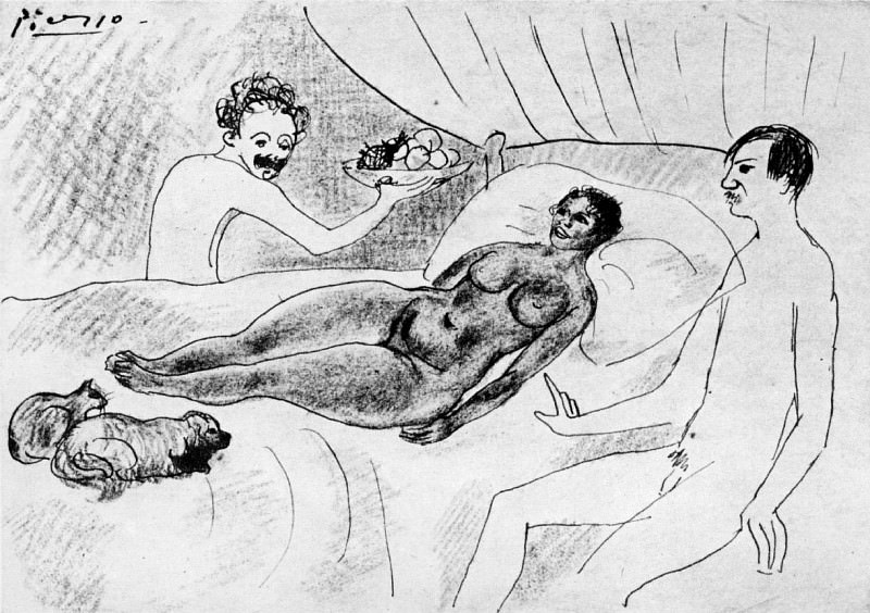 1901 Parodie dOlympia. Pablo Picasso (1881-1973) Period of creation: 1889-1907