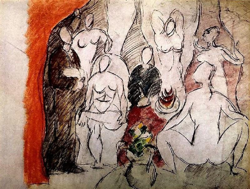 1907 Les demoiselles dAvignon. Pablo Picasso (1881-1973) Period of creation: 1889-1907 (Рtude)