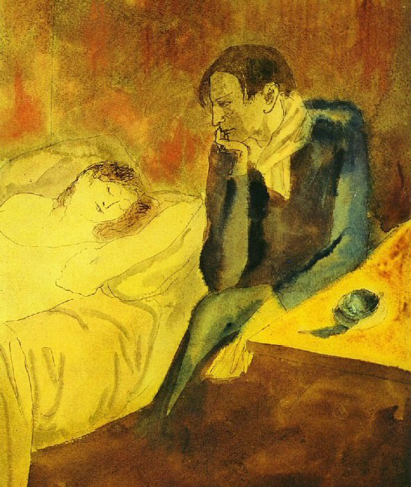 1904 Femme dormante (Meditation). Пабло Пикассо (1881-1973) Период: 1889-1907