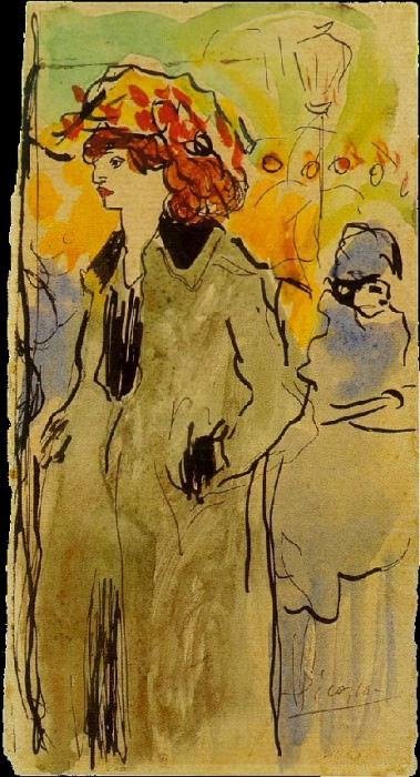 1901 Femme dans la rue. Pablo Picasso (1881-1973) Period of creation: 1889-1907