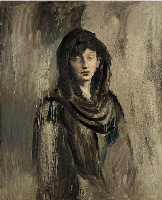 1905 Fernande Е la mantille noir. Пабло Пикассо (1881-1973) Период: 1889-1907