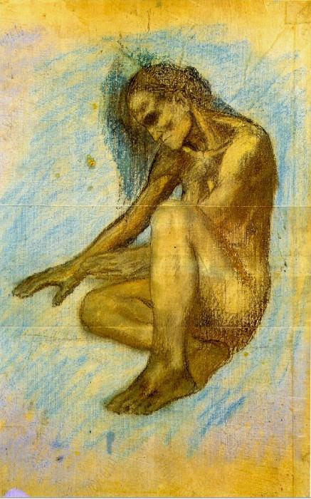 1903 Vieille femme se chauffant les mains au feu. Pablo Picasso (1881-1973) Period of creation: 1889-1907