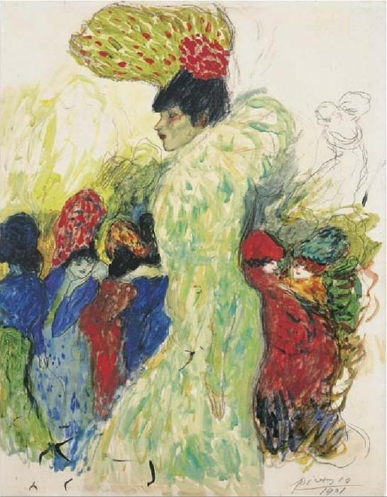 1901 Au Moulin Rouge (La fille du Roi dEgypte). Пабло Пикассо (1881-1973) Период: 1889-1907