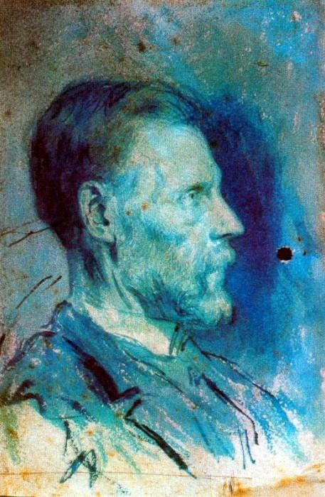 1896 Portrait du pКre de lartiste2. Pablo Picasso (1881-1973) Period of creation: 1889-1907