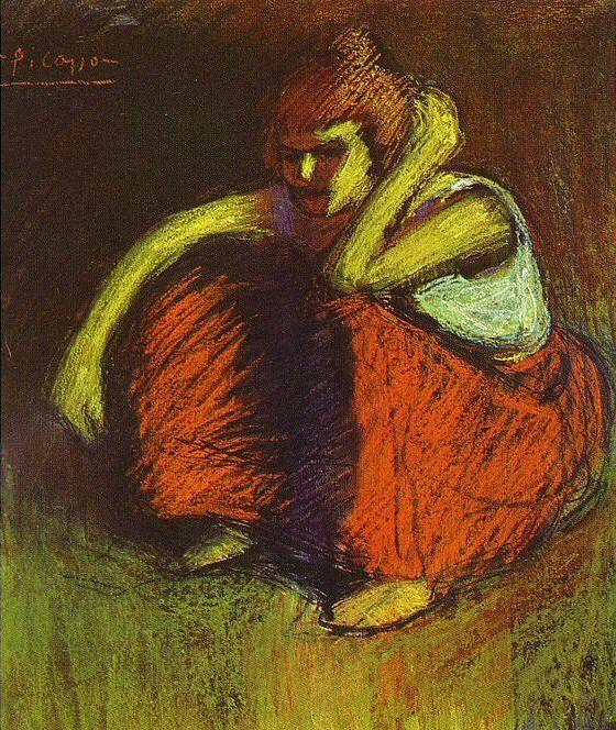 1901 La jupe rouge. Pablo Picasso (1881-1973) Period of creation: 1889-1907