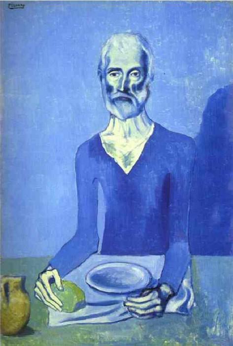 1903 Homme assis. Пабло Пикассо (1881-1973) Период: 1889-1907