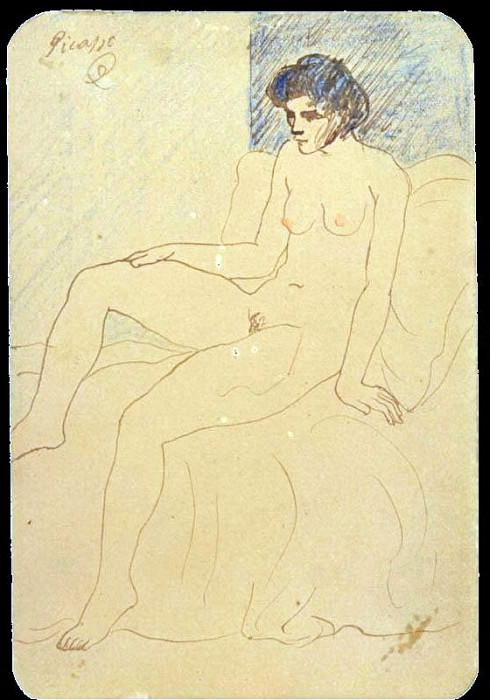 1903 Femme nue. Pablo Picasso (1881-1973) Period of creation: 1889-1907