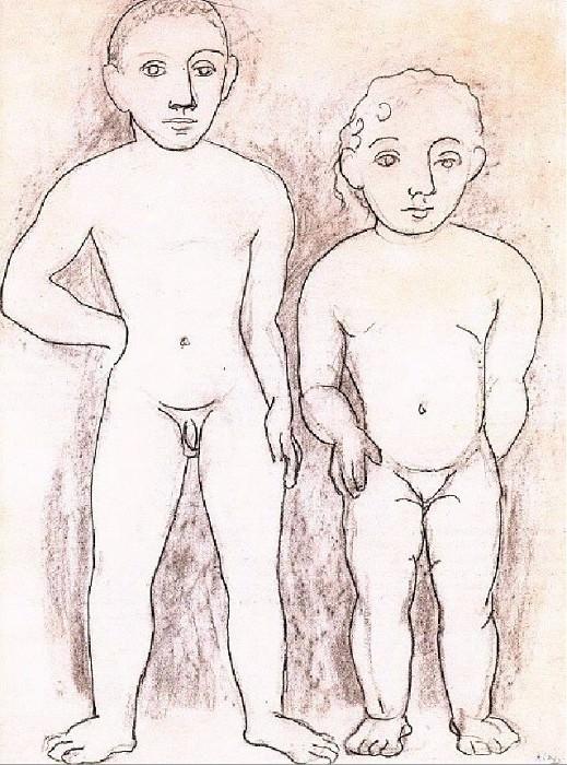 1906 GarЗon et fillette nus. Пабло Пикассо (1881-1973) Период: 1889-1907