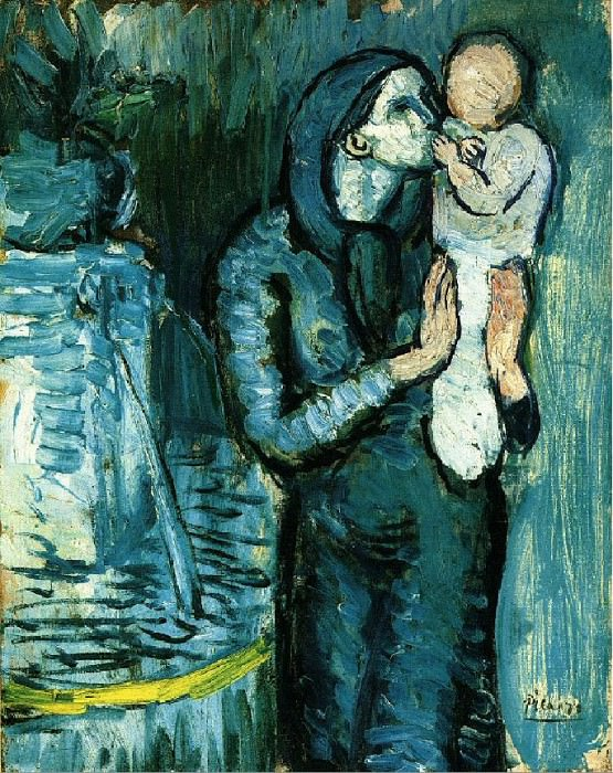 1901 MКre et enfant3. Pablo Picasso (1881-1973) Period of creation: 1889-1907