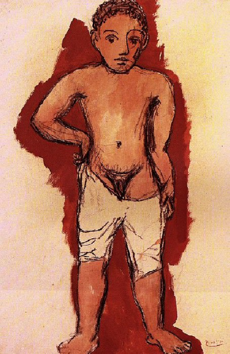 1906 GarЗon au caleЗon2. Пабло Пикассо (1881-1973) Период: 1889-1907