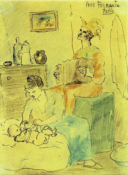 1905 Famille de bouffon. Пабло Пикассо (1881-1973) Период: 1889-1907