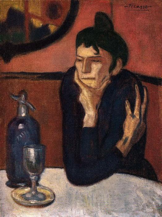 1901 Buveuse dabsinthe. Пабло Пикассо (1881-1973) Период: 1889-1907