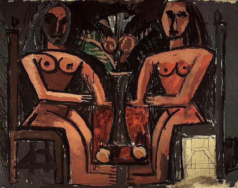 1907 Deux Femmes assises. Pablo Picasso (1881-1973) Period of creation: 1889-1907