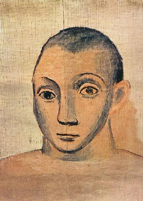 1906 Autoportrait2. Pablo Picasso (1881-1973) Period of creation: 1889-1907