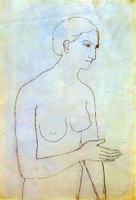 1903 Femme nue2. Пабло Пикассо (1881-1973) Период: 1889-1907