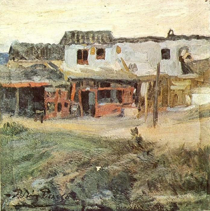 1900 La musclera. Пабло Пикассо (1881-1973) Период: 1889-1907