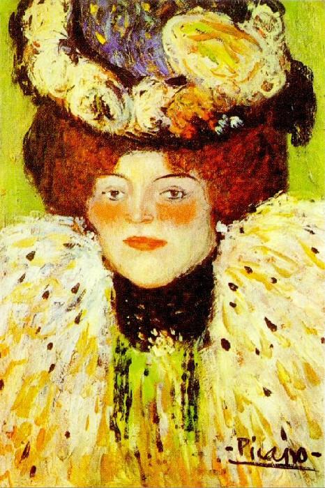 1901 TИte de femme. Pablo Picasso (1881-1973) Period of creation: 1889-1907