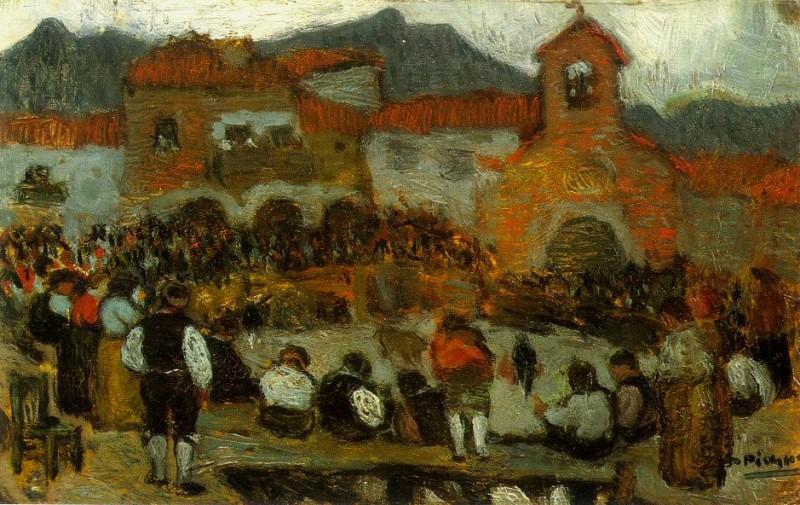 1901 Courses de taureaux3. Pablo Picasso (1881-1973) Period of creation: 1889-1907