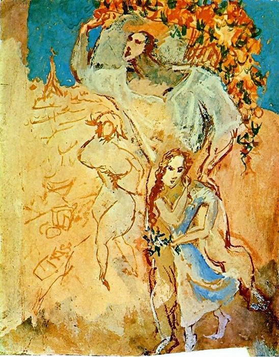 1906 Satyre et jeune fille. Pablo Picasso (1881-1973) Period of creation: 1889-1907