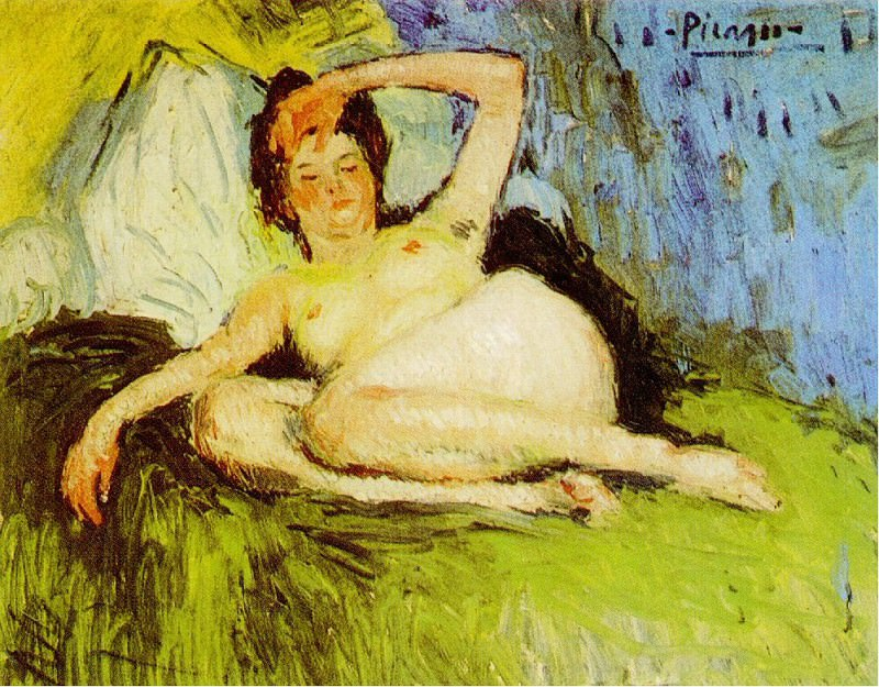 1901 Jeanne (Nu couchВ). Pablo Picasso (1881-1973) Period of creation: 1889-1907