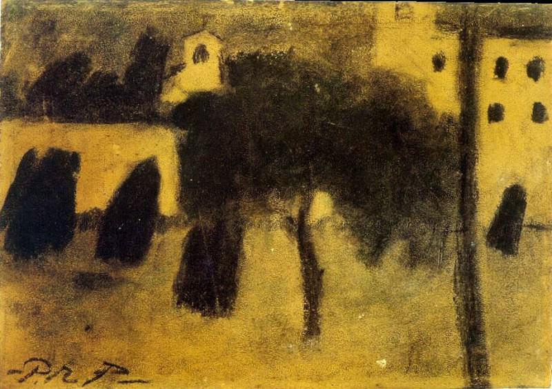 1899 Femmes traversant une place. Pablo Picasso (1881-1973) Period of creation: 1889-1907