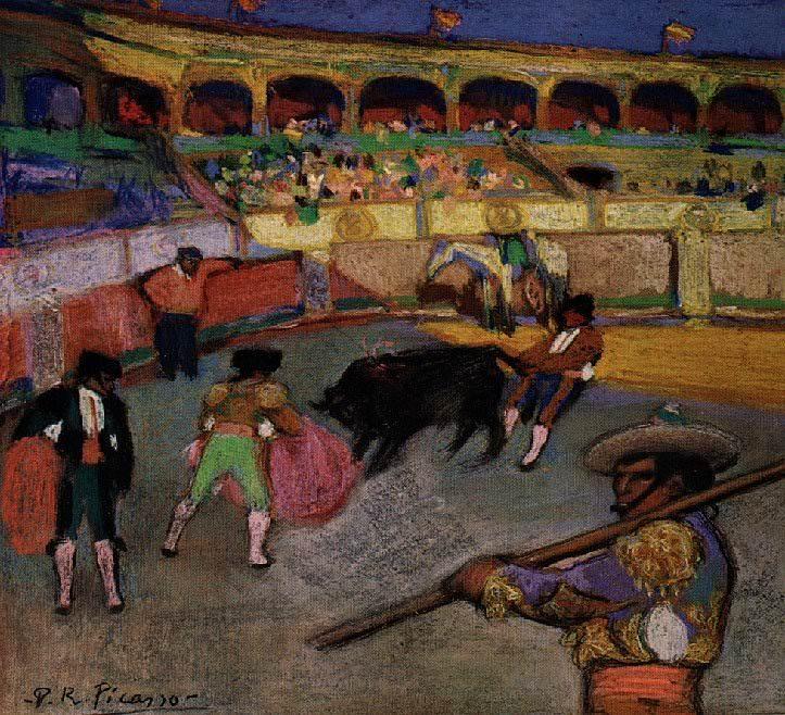 1900 Taureau tirВ par la queue. Pablo Picasso (1881-1973) Period of creation: 1889-1907