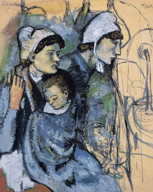 1901 Femmes Е la fontaine. Пабло Пикассо (1881-1973) Период: 1889-1907