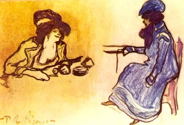 1900 Deux femmes assises. Pablo Picasso (1881-1973) Period of creation: 1889-1907
