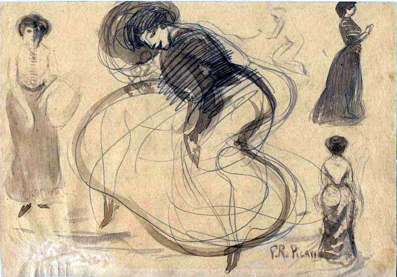 1900 Danseuse et femmes. Pablo Picasso (1881-1973) Period of creation: 1889-1907
