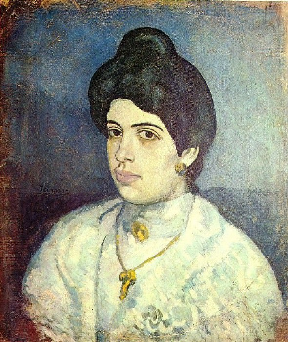1902 Portrait de Corina Romeu. Pablo Picasso (1881-1973) Period of creation: 1889-1907
