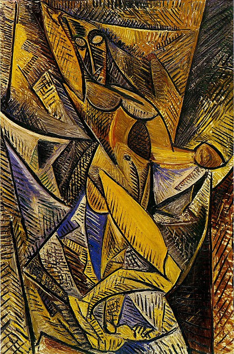1907 La danse aux voiles (Nu Е la draperie). Pablo Picasso (1881-1973) Period of creation: 1889-1907