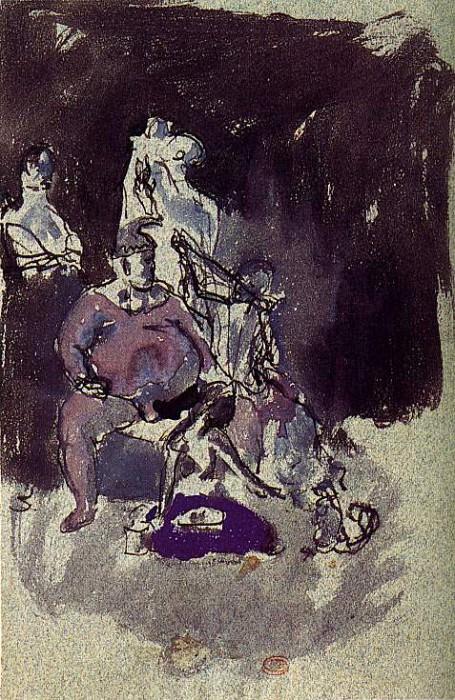1905 Profil droit de bouffon. Pablo Picasso (1881-1973) Period of creation: 1889-1907