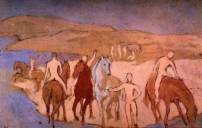 1906 Chevaux au bain. Pablo Picasso (1881-1973) Period of creation: 1889-1907