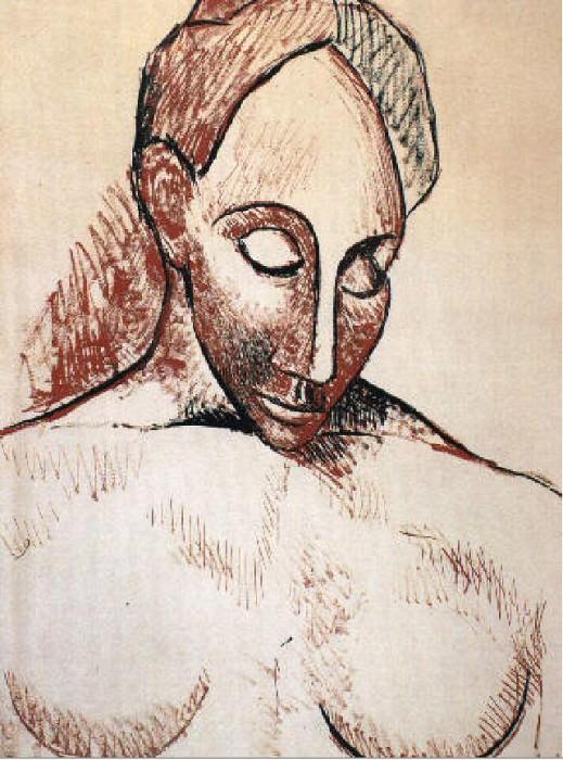 1906-7 Buste de femme. Pablo Picasso (1881-1973) Period of creation: 1889-1907