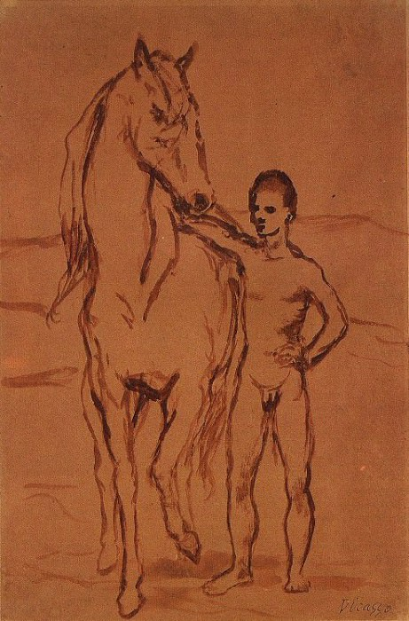 1906 Meneur de cheval nu1. Pablo Picasso (1881-1973) Period of creation: 1889-1907