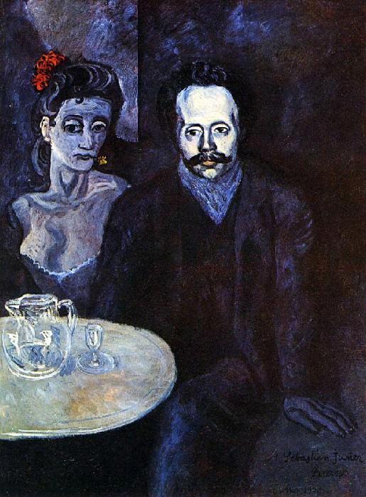 1903 S. Junyer-Vidal avec une femme Е ses cУtВs. Пабло Пикассо (1881-1973) Период: 1889-1907