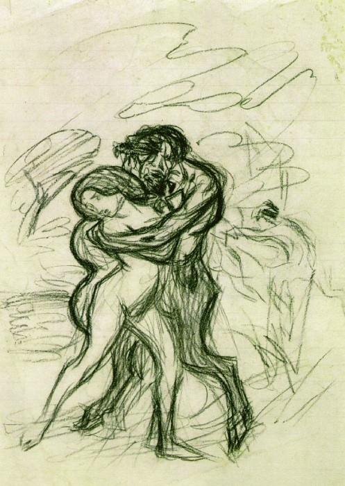 1900 LВtreinte brutale2. Pablo Picasso (1881-1973) Period of creation: 1889-1907