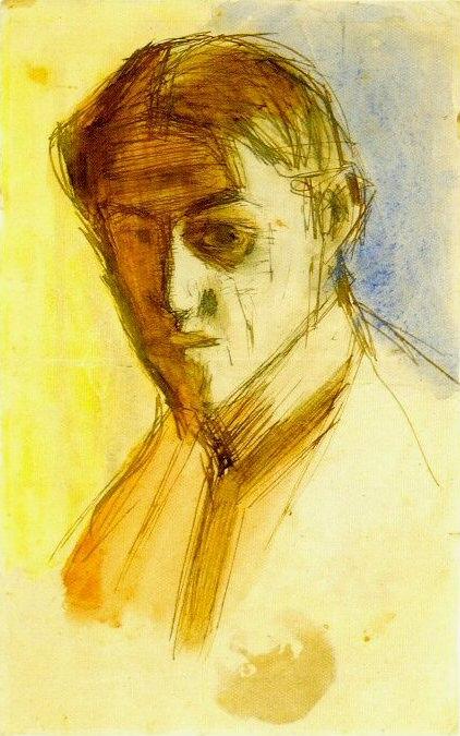 1899 Autoportrait2. Pablo Picasso (1881-1973) Period of creation: 1889-1907