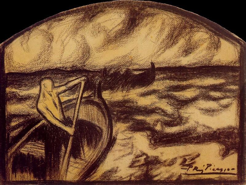 1900 Etre ou ne pas Иtre. Pablo Picasso (1881-1973) Period of creation: 1889-1907