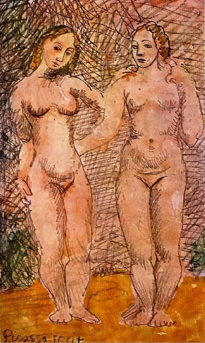 1906 Deux femmes nues1. Pablo Picasso (1881-1973) Period of creation: 1889-1907