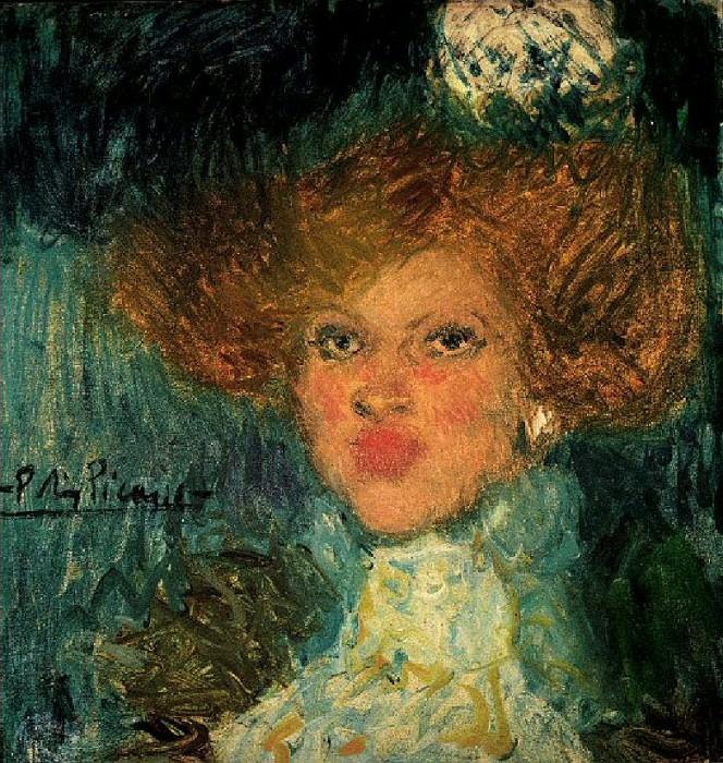 1901 TИte de femme2. Pablo Picasso (1881-1973) Period of creation: 1889-1907