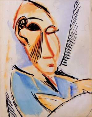 1907 TИte dВtudiant mВdical. Pablo Picasso (1881-1973) Period of creation: 1889-1907