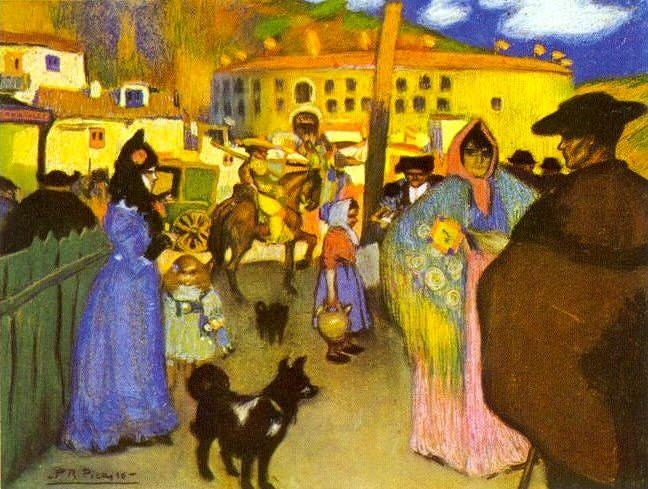 1900 Les arКnes de Barcelona. Pablo Picasso (1881-1973) Period of creation: 1889-1907